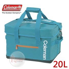 探險家戶外用品㊣CM-6600 美國Coleman Elite 20L 水藍保冷袋 軟式摺疊冰箱 行動冰箱 冰桶 保冷箱