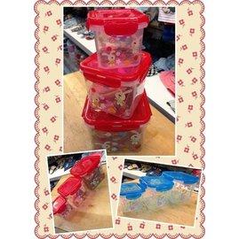 貝果貝果 三合一 可愛兔子保鮮盒 紅色  藍色