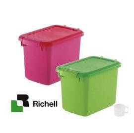 貝果貝果  Richell ~上掀式保鮮桶 飼料桶~3.5kg, 10kg