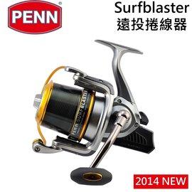 ◎百有釣具◎Penn Surfblaster 7000 遠投捲線器~7顆不鏽鋼培林與1顆及時防逆轉培林,拋投出線順暢