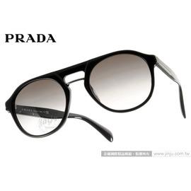 PRADA太陽眼鏡 SPR09PA 1AB0A7 (黑) 時尚經典質感 墨鏡 # 金橘眼鏡