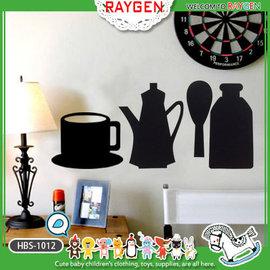 壁貼 兒童房 店面 佈置 DIY 創意 黑板貼 茶具組 送粉筆2支【HH婦幼館】