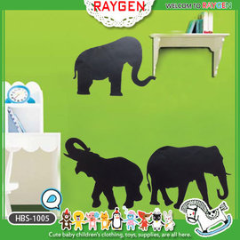 壁貼 兒童房 店面 佈置 DIY 創意 黑板貼 大象 送粉筆2支【HH婦幼館】