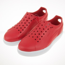 6折出清~PUMA~FUTURE SUEDE INJEX  溯溪 洞洞 運動 涼鞋-紅 (356541-01)