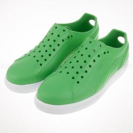 7折出清~PUMA~FUTURE SUEDE INJEX  溯溪 洞洞 運動 涼鞋-綠 (356541-04)