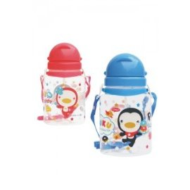 PUKU藍色企鵝滑蓋水壺800C.C.(P14612) 藍/粉 *安全無毒又防漏!!*