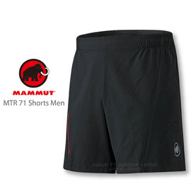 【瑞士 MAMMUT 長毛象】男新款 MTR 71 Shorts Men 質輕短褲 / 快乾.透氣.質輕.反光標誌/ 1020-07620 黑