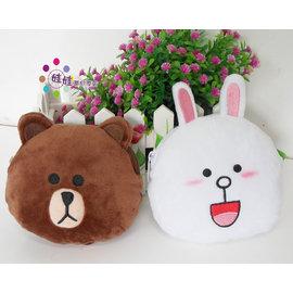 LINE~可愛熊大 兔兔 饅頭人零錢包 證件夾~