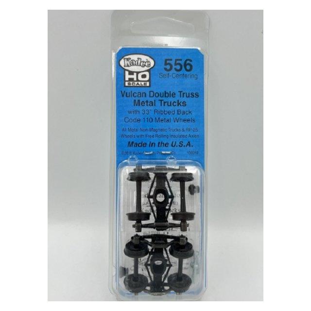 中 Kadee 556 HO規 Vulcan Double Truss 金屬轉向架^(可作