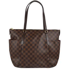 Louis Vuitton LV N41281 TOTALLY MM 棋盤格紋肩背包.停產