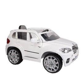 【店面購買6600元】『CK24』原廠授權 寶馬 BMW X5 雙馬達可開門 兒童電動車(白色)【贈 動物家族拉拉樂積木】