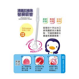 PUKU藍色企鵝滑蓋如意珠替換吸管(P11319) (水壺P14716/P14721專用)