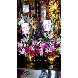 U058精致盆花