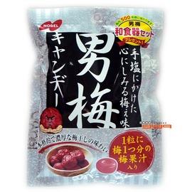 【吉嘉食品】諾貝兒NOBEL 男梅糖(紫蘇梅糖) 1包80公克75元,日本進口{4902124680204:1}
