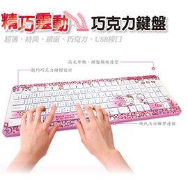 新觀念^~精巧靈動巧克力鍵盤~KT摩登粉