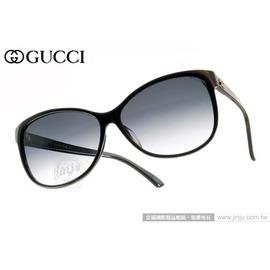 GUCCI 太陽眼鏡 GG3175FS I31JJ (黑) 都會魅力經典小貓眼款 墨鏡 # 金橘眼鏡