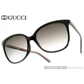 GUCCI 太陽眼鏡 GG3665FS 51NYR (黑) 摩登時尚簡約經典小貓眼款 墨鏡 # 金橘眼鏡