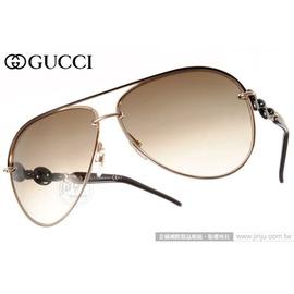 GUCCI 太阳眼镜 GG4225S WPUCC (玫瑰金-咖啡) 魅力时尚经典飞官款 墨镜 # 金橘眼镜