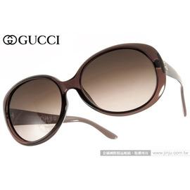 GUCCI太阳眼镜 GG3594KS W7LD8 (透棕) 高贵时尚菱格纹LOGO款墨镜 # 金橘眼镜