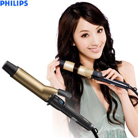 【五分埔单生活馆】~加赠lux沐浴乳~Philips 飞利浦 HP4684 / HP-4684 沙龙级奈米电气石温控电卷棒