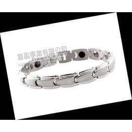 台南 長記銀樓~ 健康手鍊~MOMA~白鋼手鍊 鍺磁石 男手鍊 子彈寬版  1280元