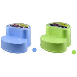 【紫貝殼】『NJ05』雙層幼兒防滑階梯椅/浴室廚房防滑椅/防滑小椅子/椅凳 台灣製 顏色隨機