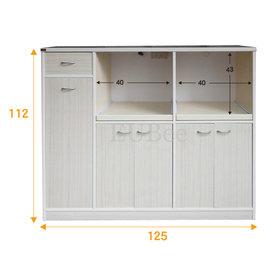 ~優彼塑鋼~4尺雙拉盤 櫃 櫥櫃 收納櫃 多 防水櫃 抗菌 可訂製^(H923^)