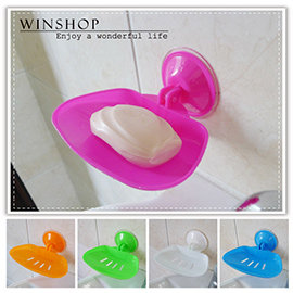 【winshop】B2136 強力吸盤肥皂盒/收納皂盒/瀝水皂盒/肥皂架/吸盤收納廚房浴室用品置物架