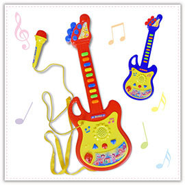 【Q禮品】B2144 吉他麥克風組/烏克麗麗/音樂玩具/兒童學習吉他/電吉他/ST玩具認證合格