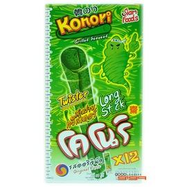 ~吉嘉食品~Konori 超長紫菜卷 海苔捲^~原味^(帶點微辣^)^~ 1盒12條入10