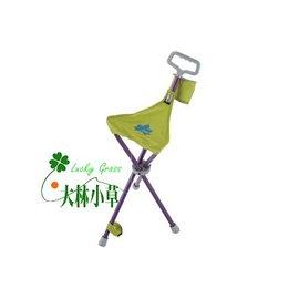 大林小草~【73173020】日本LOGOS新式摩登拐杖椅 登山杖兩用/排隊/老人拐杖椅