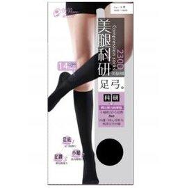 ~褲襪小姐~蒂巴蕾美腿科研足弓美腿中統襪230D^(黑^)HK351