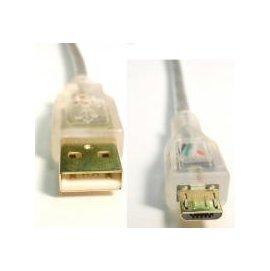 ~ 附發票~USB2.0 A公_Micro B公鍍金透明線 3M^(UB~273^) 電腦