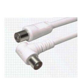 有線電視 BNC線/連接線/閉路線 (1.3米) **彎頭** 白
