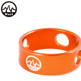 探險家戶外用品㊣NT0103O(橘) 努特NUIT圓形鋁合金調節環 3孔調節片 調節拉繩片 營繩扣 6061鋁合金
