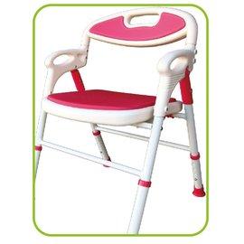 鋁製可收合洗澡椅S168 紅色