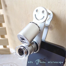 【Q禮品】A2167 手機60倍顯微鏡/平板手機萬用夾迷你顯微鏡驗鈔燈/伸縮變焦/ iphone HTC SONY Samsung 紅米小米