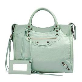 Balenciaga巴黎世家 VELO 手提/肩背機車包(晶翠綠)235216-5311