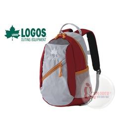 探險家戶外用品㊣NO.88250131 日本品牌LOGOS 兒童背包8L (紅) 書包 運動背包郊遊雙肩背包