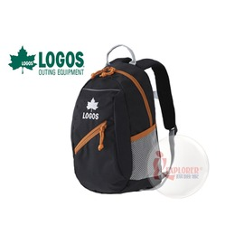 探險家戶外用品㊣NO.88250134 日本品牌LOGOS 兒童背包8L (黑) 書包 運動背包郊遊雙肩背包