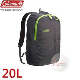 探險家戶外用品㊣CM-B441JMODG 美國Coleman UL可收摺輕量後背包-20L (深灰) 雙肩背包 旅行 郊遊 運動休閒