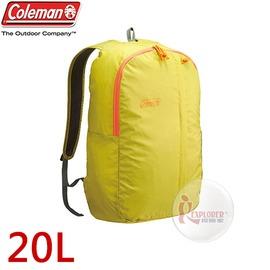 探險家戶外用品㊣CM-B441JMOLM 美國Coleman UL可收摺輕量後背包-20L (萊姆) 雙肩背包 旅行 郊遊 運動休閒
