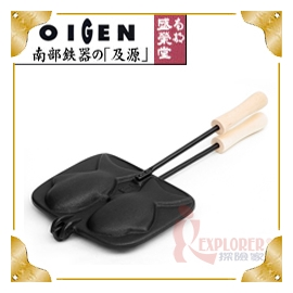 探險家戶外用品㊣F-153 日本製盛榮堂 南部鐵器 雕魚燒模具 鯛魚燒烤盤 鬆餅模型 雞蛋糕機