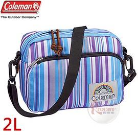 探險家戶外用品㊣CM-A407JMMSP 美國Coleman C-SHOULDER迷你單肩側背包 (多條紋) 休閒腰包 郊遊包