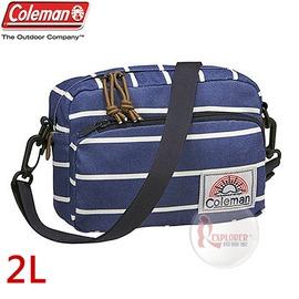探險家戶外用品㊣CM-A407JMNBD 美國Coleman C-SHOULDER迷你單肩側背包 (海軍風) 休閒腰包 郊遊包