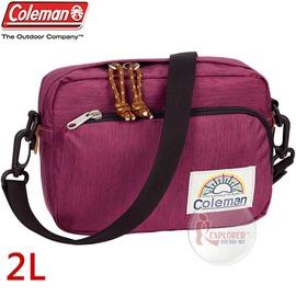 探險家戶外用品㊣CM-A407JMORB 美國Coleman C-SHOULDER迷你單肩側背包 (紅寶石) 休閒腰包 郊遊包