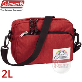 探險家戶外用品㊣CM-A407JMORD 美國Coleman C-SHOULDER迷你單肩側背包 (豔陽紅) 休閒腰包 郊遊包