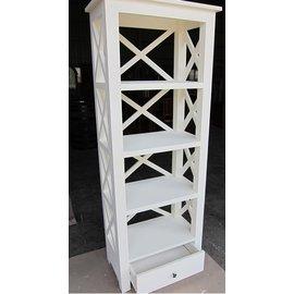 優適傢柚木   鄉村風刷白柚木收納櫃