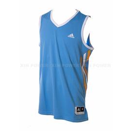 Adidas~  男款排汗 籃球背心-水藍 (D83160)