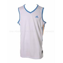 490元出清~Adidas~  男款排汗 籃球背心-白 (D83161)